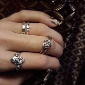 Kay jewelers diamond heart ring